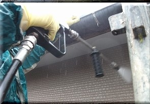 北九州市にて外壁塗装 ~高圧洗浄~
