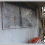北九州市にて外壁塗装 ボンタイル葺き戻し ~シーラー~